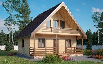 Каркасный дом на даче фото